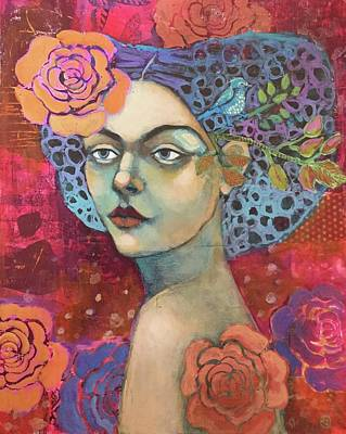 Mixed Media Florals Painting - The Garden Of Love by Jane Spakowsky