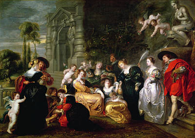 Ground Painting - The Garden Of Love by Peter Paul Rubens