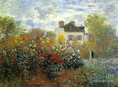 Claude Mixed Media - The Garden Of Monet At Argenteuil by Monet