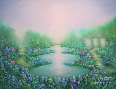 Reflections Of Nature Painting - The Garden Of Peace by Hannibal Mane