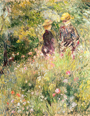 Impressionist Photograph - The Garden Of Roses by Pierre Auguste Renoir
