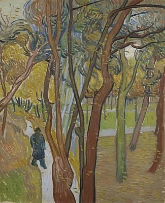 Painting - The Garden Of Saint Paul S Hospital   Leaf Fall   Saint-remy De Provence  October 1889 Vincent Van G by Artistic Panda