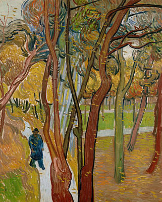Painting - The Garden Of Saint Paul's Hospital by Vincent van Gogh