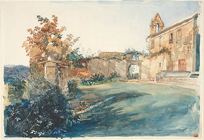 Classic Art Drawing - The Garden Of San Miniato Near Florence by John Ruskin