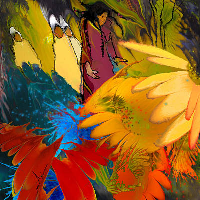 Impressionism Painting - The Garden Of Sins by Miki De Goodaboom