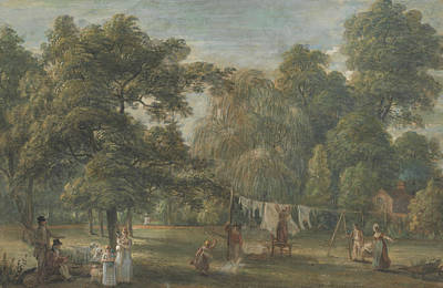 Painting - The Garden Of Thomas Sandby's House At Englefield Green Near Windsor by Paul Sandby
