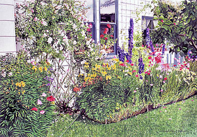 Painting - The Garden On Niagara Street by David Lloyd Glover