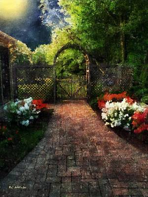Painting - The Garden Path by RC deWinter