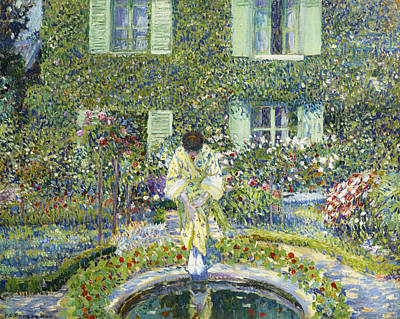 Painting - The Garden Pool by Frederick Carl Frieseke