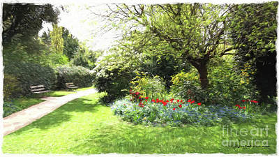 Digital Art - The Garden by Roger Lighterness