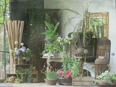 Digital Art - The Garden Room by Victoria Harrington