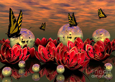 Digital Art - The Garden by Sandra Bauser Digital Art