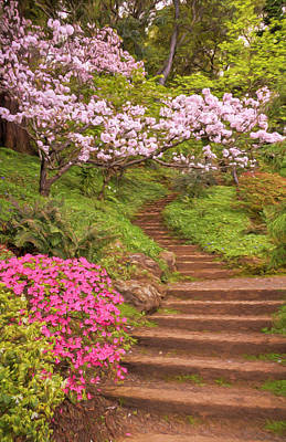 Photograph - The Garden Stairs #2 by Susan Rissi Tregoning