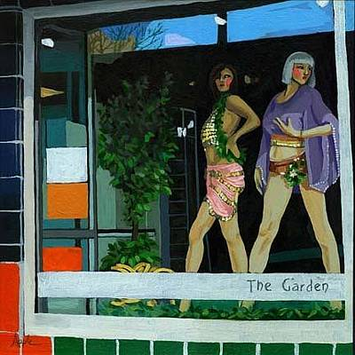 Manikins Painting - The Garden Store Window by Linda Apple