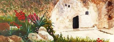 Sepulcher Painting - The Garden Tomb Jerusalem by Nigel Radcliffe