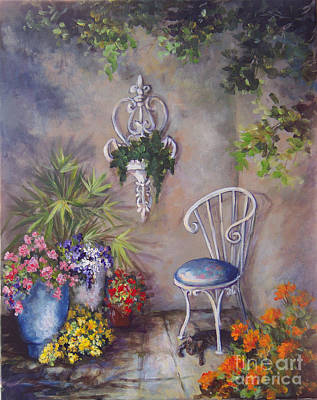 Painting - The Garden Wall by Deborah Smith
