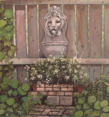 The Garden Wall Original by Victoria  Shea