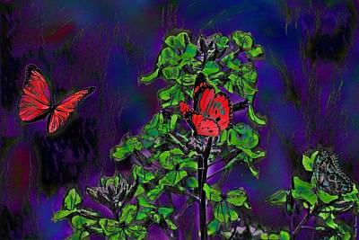Digital Art - The Garden by Wesley Nesbitt