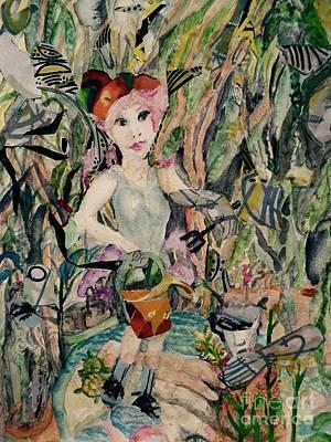 Mixed Media - Ivana Is The Gardener by Barbara Greene Mann