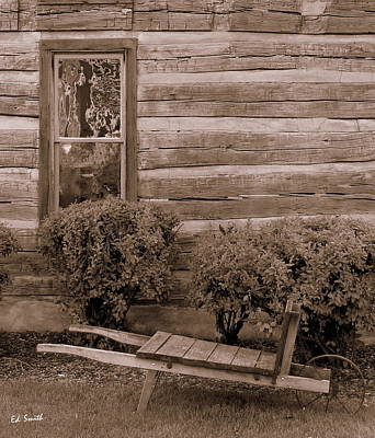 Cabin Window Photograph - The Gardener by Ed Smith