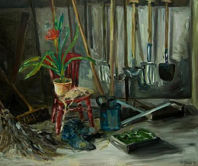 Painting - The Gardener by Gabi Dziok-Grubb