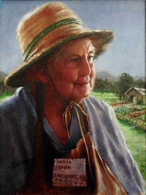 Painting - The Gardener by Janet McGrath