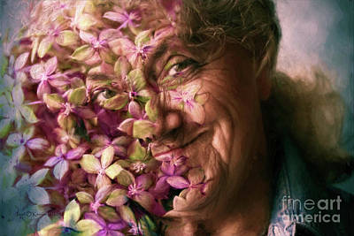 Floral Happiness Photograph - The Gardener by Jean OKeeffe Macro Abundance Art