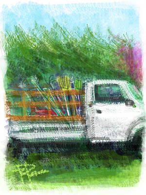 The Gardener's Truck Art Print