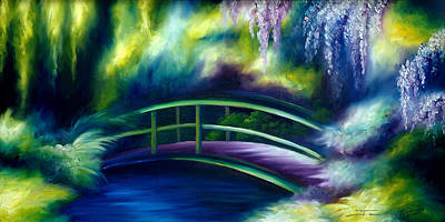 Cloudscape Painting - The Gardens Of Givernia by James Christopher Hill