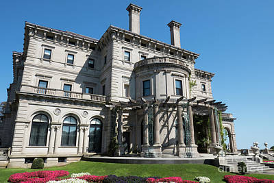 Photograph - The Gardens The Breakers Vanderbilt Mansion Newport Rhode Island by Wayne Moran