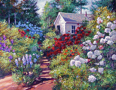 Painting -  The Gardner's Shed by David Lloyd Glover