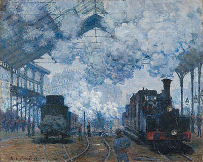 Gare Painting - The Gare Saint-lazare Arrival Of A Train 1877 by Claude Monet