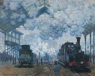 The Gare Saint-lazare Arrival Of A Train Art Print