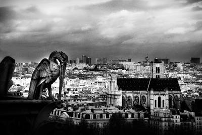 The Gargoyles Of Notre Dame Art Print by Cabral Stock
