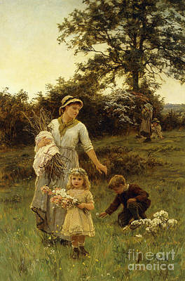 The Garland Art Print by Frederick Morgan