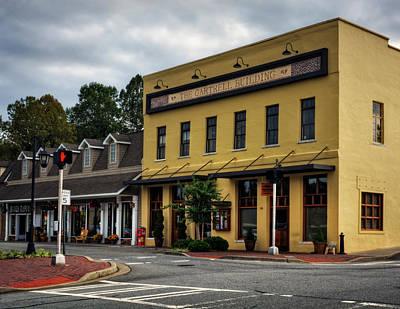 Crosswalk Photograph - The Gartrell Building by Greg Mimbs