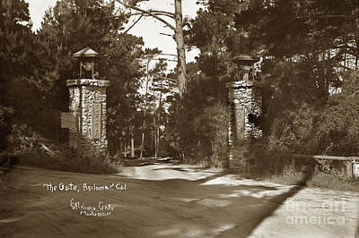 Photograph - The Gate, Asilomar, Y.w.c.a., Pacific Grove, Calif. by California Views Mr Pat Hathaway Archives