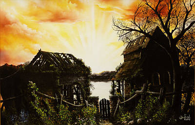David Paul Painting - The Gate by David Paul