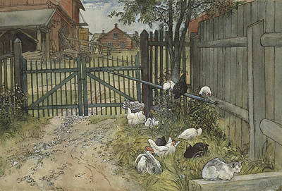 Painting - The Gate. From A Home by Carl Larsson