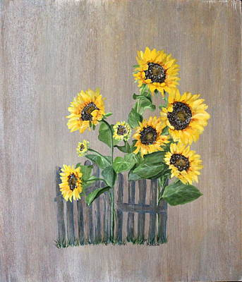 Wall Art - Painting - The Gate Keepers by Mary Arneson