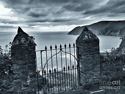 Photograph - The Gate To Nowhere B W by Joan-Violet Stretch