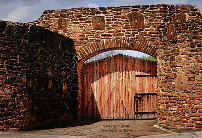 Photograph - The Gate To The San Jose Mission by Gerlinde Keating - Galleria GK Keating Associates Inc