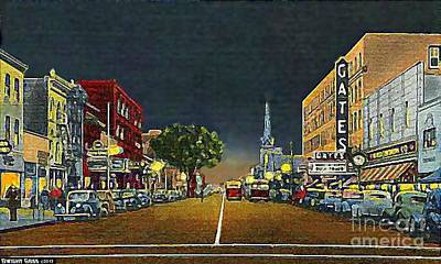 The Gates Theatre In Portsmouth Va In 1946 Art Print