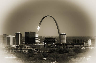 Photograph - The Gateway Arch by Kristy Creighton