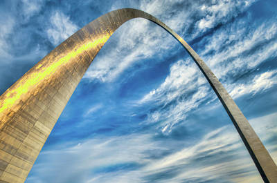 Jefferson National Expansion Memorial Photograph - The Gateway Arch Of Saint Louis Missouri by Gregory Ballos