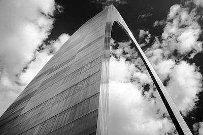 Photograph - The Gateway - Black And White - Saint Louis Missouri by Gregory Ballos