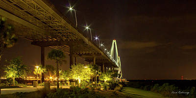 The Gateway Charleston Harbor Arthur Ravenel Jr Bridge Print by Reid Callaway
