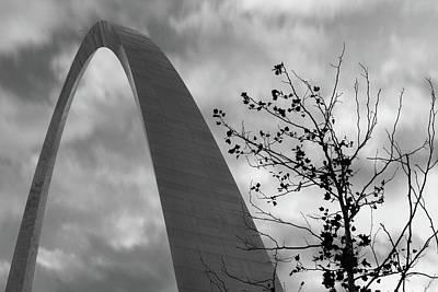 Photograph - The Gateway - Saint Louis Monochrome by Gregory Ballos