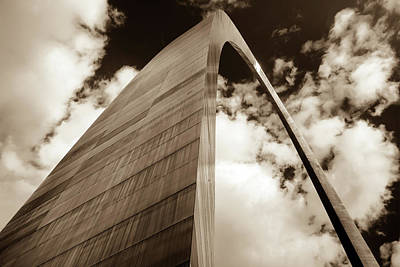 Photograph - The Gateway - Sepia - Saint Louis Missouri by Gregory Ballos