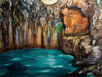 Mystical Landscape Painting - The Gateway by Solveig Katrin